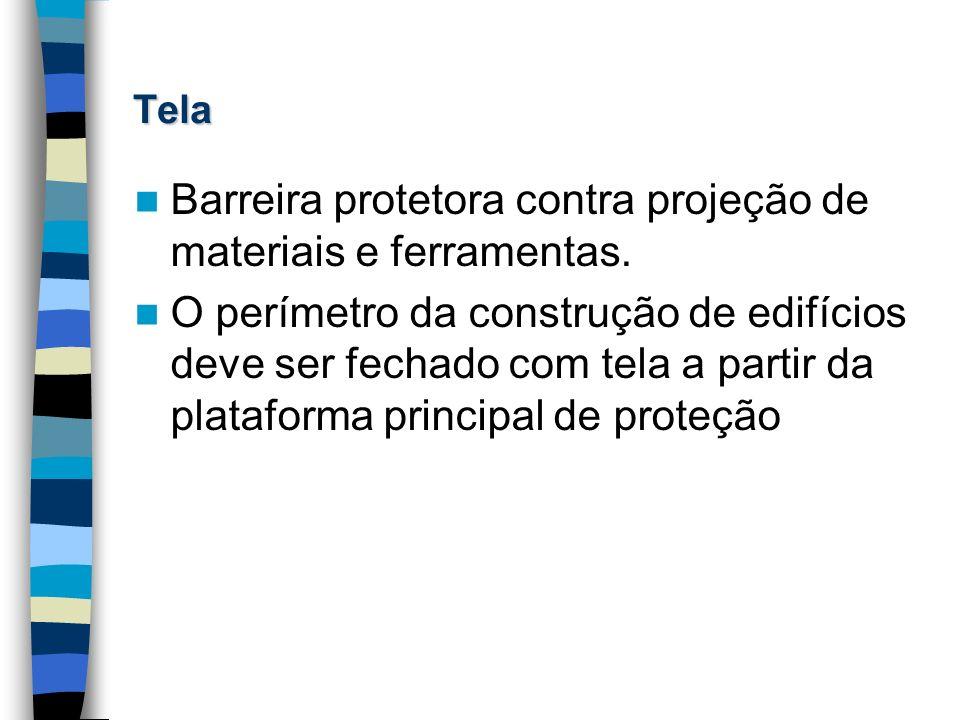 Tela Barreira protetora contra projeção de materiais e ferramentas. O perímetro da construção de edifícios deve ser fechado com tela a partir da plata