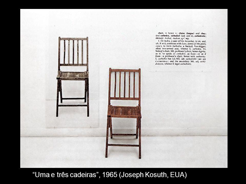Uma e três cadeiras, 1965 (Joseph Kosuth, EUA)