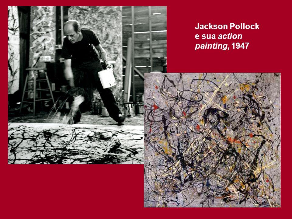 Pop Art - EUA, começo da década de 60 - Artistas que se destacaram: Roy Lichtenstein, Andy Warhol, Claes Oldenburg, James Rosenquist - Proposta: utilização de temas extraídos da banalidade dos EUA urbanos; quebra com os estilos emocionalmente carregados dos expressionistas abstratos; dependência das técnicas da cultura visual de massa; trabalhos feitos em série.