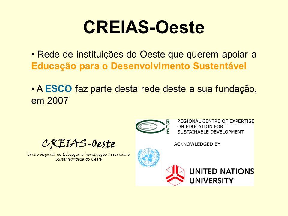 CREIAS-Oeste Centro Regional de Educação e Investigação Associada à Sustentabilidade do Oeste Rede de instituições do Oeste que querem apoiar a Educaç
