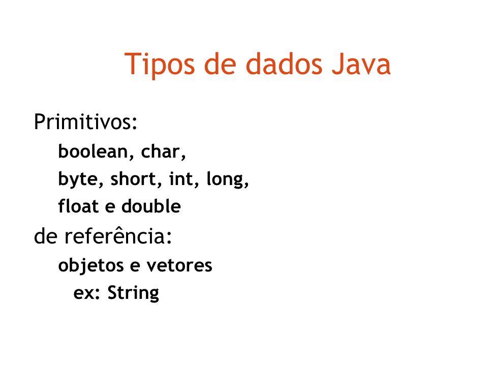 Tipos de dados Os parâmetros possuem tipos. O tipo define quais tipos de valores um parâmetro pode assumir O tipo int significa números inteiros int i