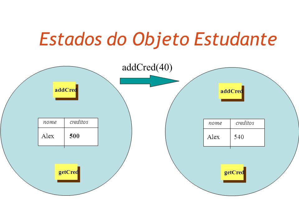 Múltiplas instâncias Várias instâncias podem ser criadas a partir de uma única classe. Um objeto tem atributos: valores armazenados em campos. A class