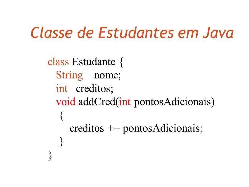 Classe de Estudantes