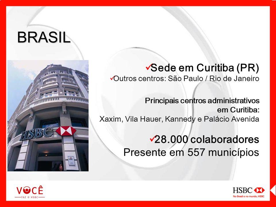 Sede em Curitiba (PR) Outros centros: São Paulo / Rio de Janeiro Principais centros administrativos em Curitiba: Xaxim, Vila Hauer, Kannedy e Pal á ci