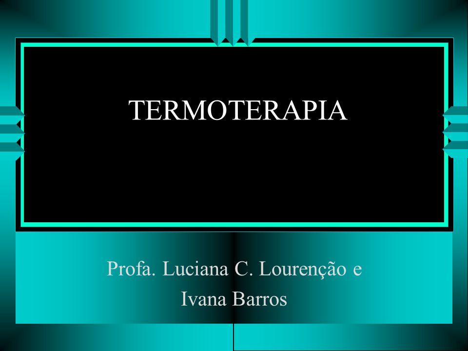 TERMOTERAPIA Profa. Luciana C. Lourenção e Ivana Barros