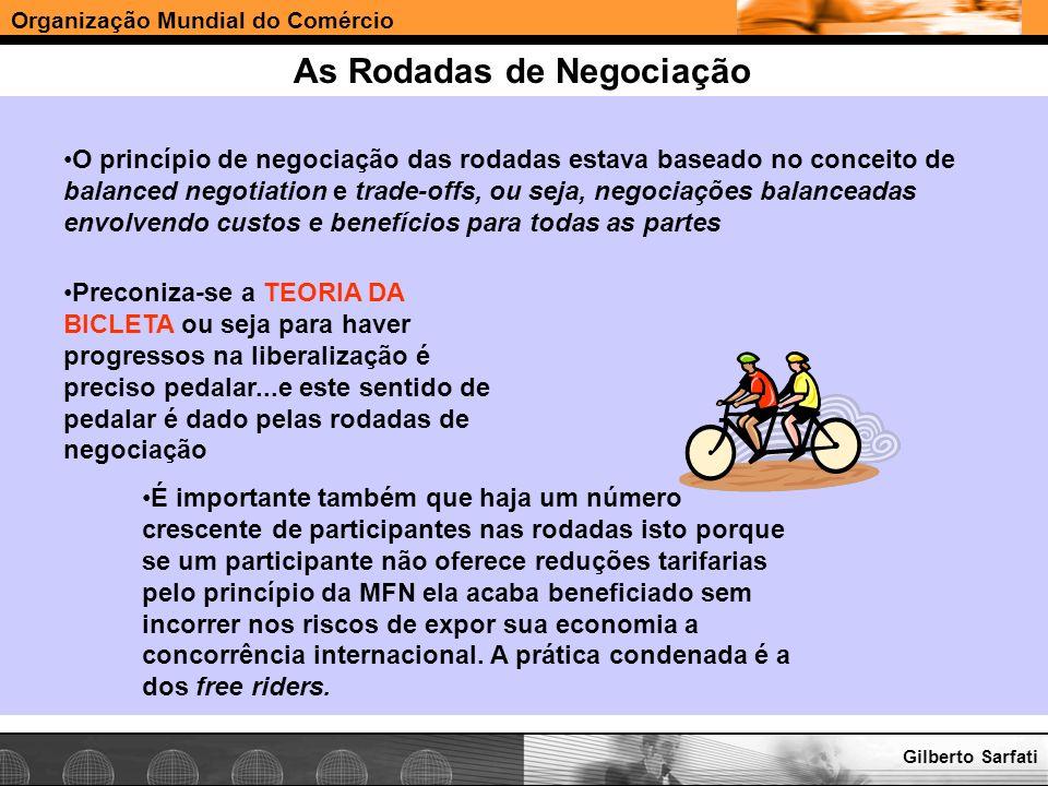 Organização Mundial do Comércio www.e-deliver.com.brGilberto Sarfati As Rodadas de Negociação O princípio de negociação das rodadas estava baseado no