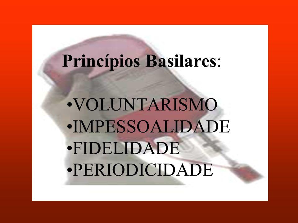 Princípios Basilares: VOLUNTARISMO IMPESSOALIDADE FIDELIDADE PERIODICIDADE