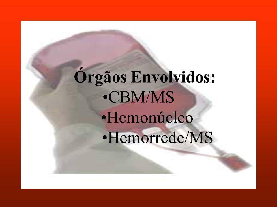 Órgãos Envolvidos:CBM/MS Hemonúcleo Hemorrede/MS