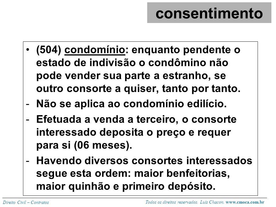 Todos os direitos reservados. Luis Chacon. www.cmoca.com.br Direito Civil – Contratos (497) proibição legal de adquirir bens atinentes ao ofício ou pr