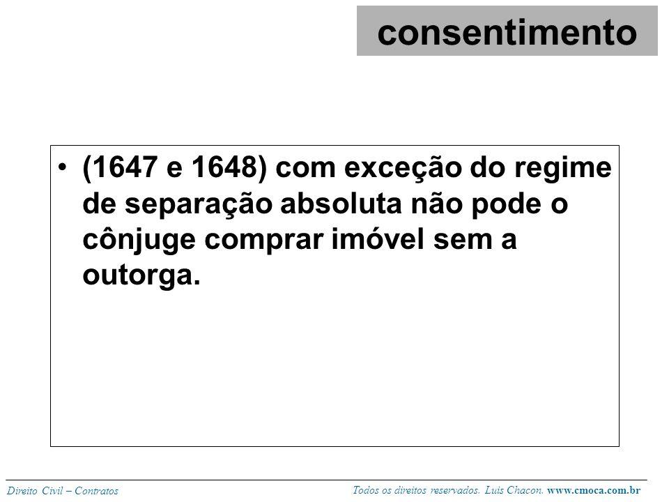 Todos os direitos reservados. Luis Chacon. www.cmoca.com.br Direito Civil – Contratos (504) condomínio: enquanto pendente o estado de indivisão o cond
