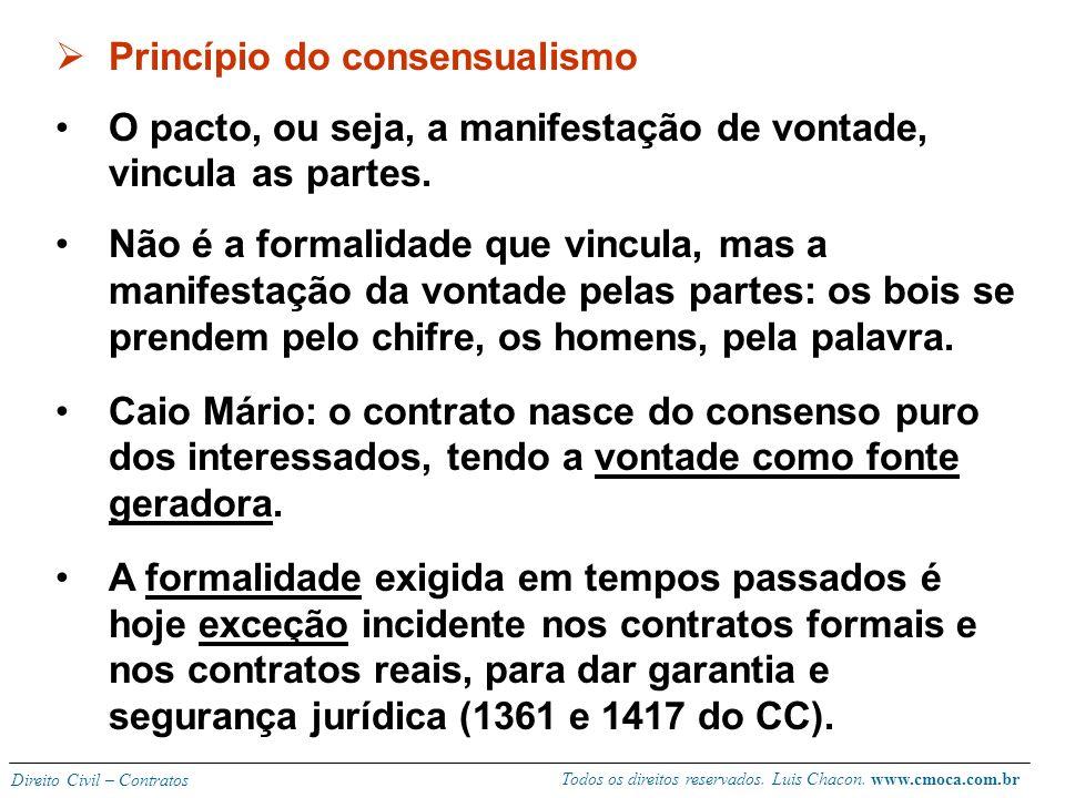 Todos os direitos reservados. Luis Chacon. www.cmoca.com.br Direito Civil – Contratos O desatendimento à função social do contrato será analisada em c