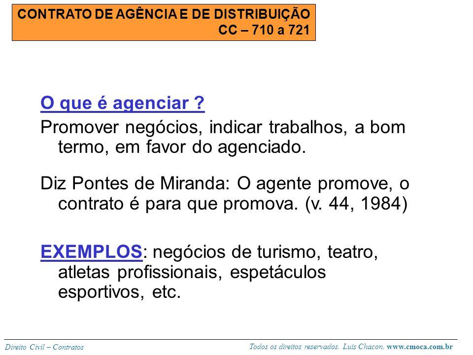 Todos os direitos reservados. Luis Chacon. www.cmoca.com.br Direito Civil – Contratos Extinção do contrato: Causas comuns; Veja o artigo 473, p.u. (pr
