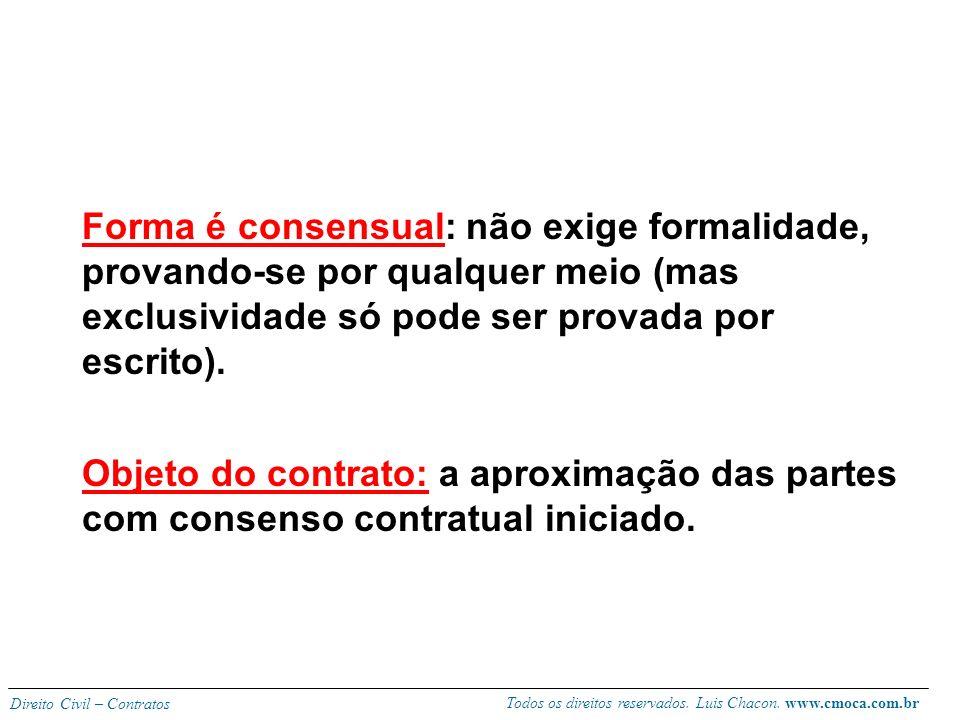 Todos os direitos reservados. Luis Chacon. www.cmoca.com.br Direito Civil – Contratos Conceito: contrato pelo qual uma pessoa, não ligada a outra em v
