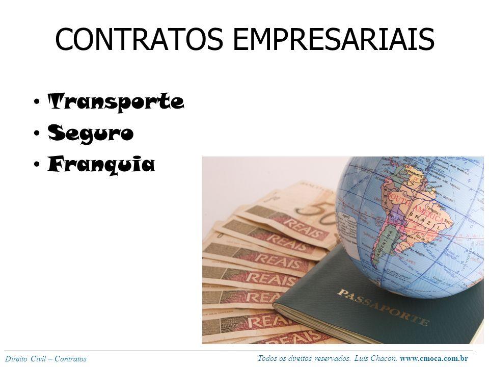 Todos os direitos reservados. Luis Chacon. www.cmoca.com.br Direito Civil – Contratos AVALIAÇÃO P3 (outubro): Contratos\terceiros: 2,0 pontos; dissert