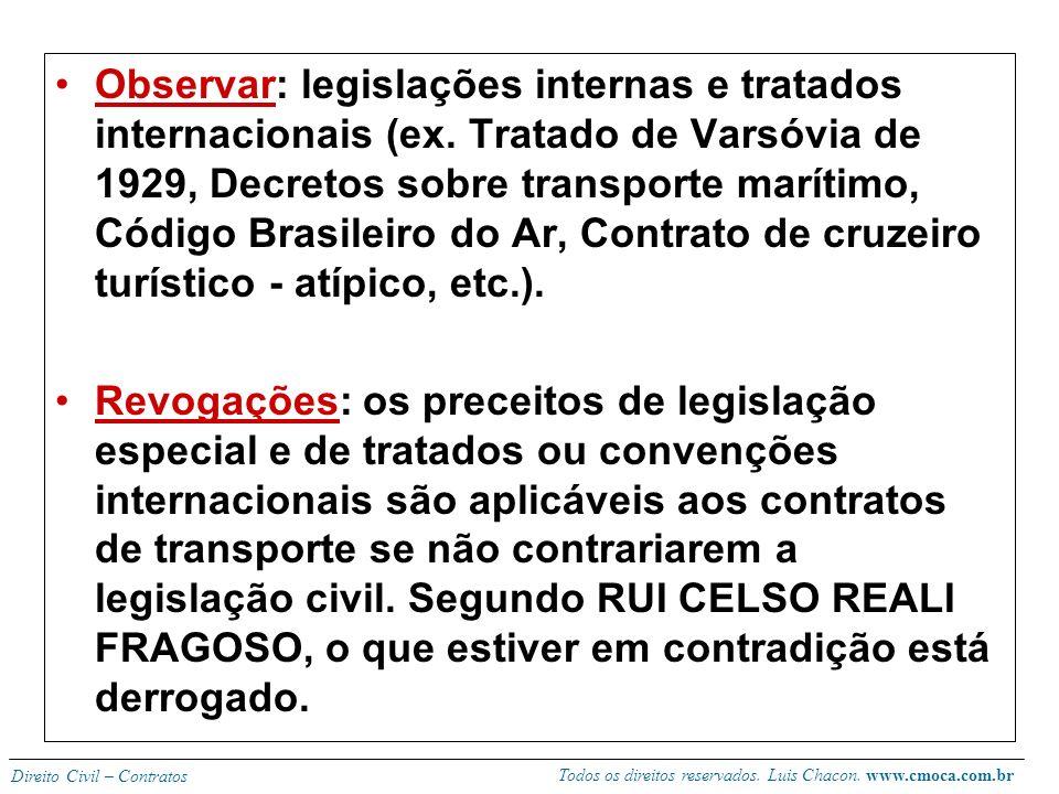 Todos os direitos reservados. Luis Chacon. www.cmoca.com.br Direito Civil – Contratos Novidade no NCC, sendo que antes era tratado por leis esparsas (