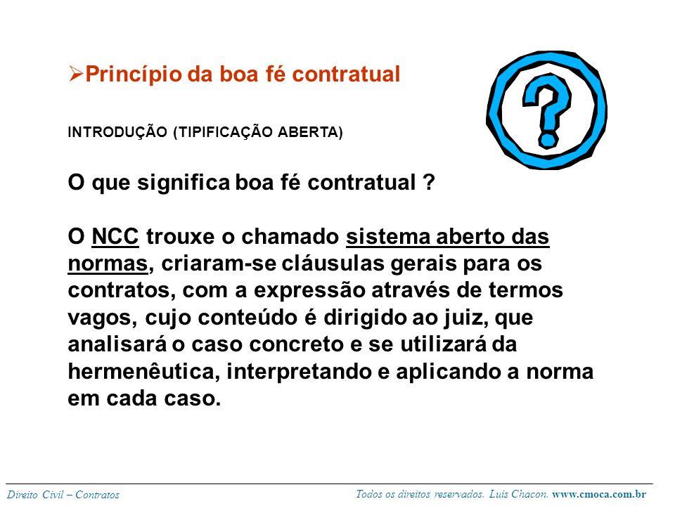 Todos os direitos reservados. Luis Chacon. www.cmoca.com.br Direito Civil – Contratos Princípio da relatividade (efeitos do contrato) - Regra geral (e