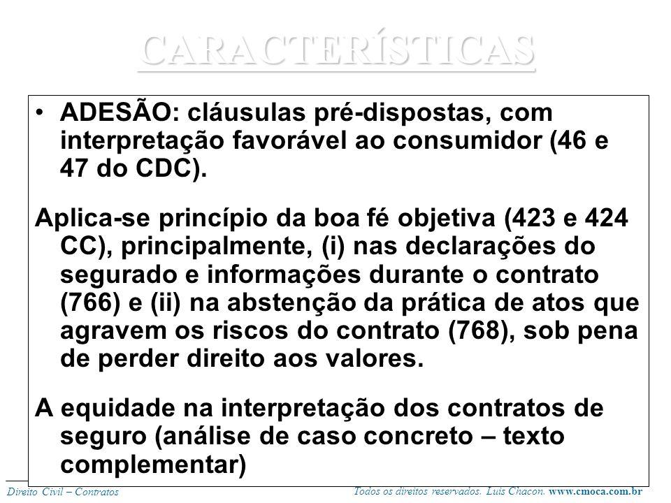 Todos os direitos reservados. Luis Chacon. www.cmoca.com.br Direito Civil – Contratos CONSENSUAL: forma escrita não é exigida para celebração, mas se