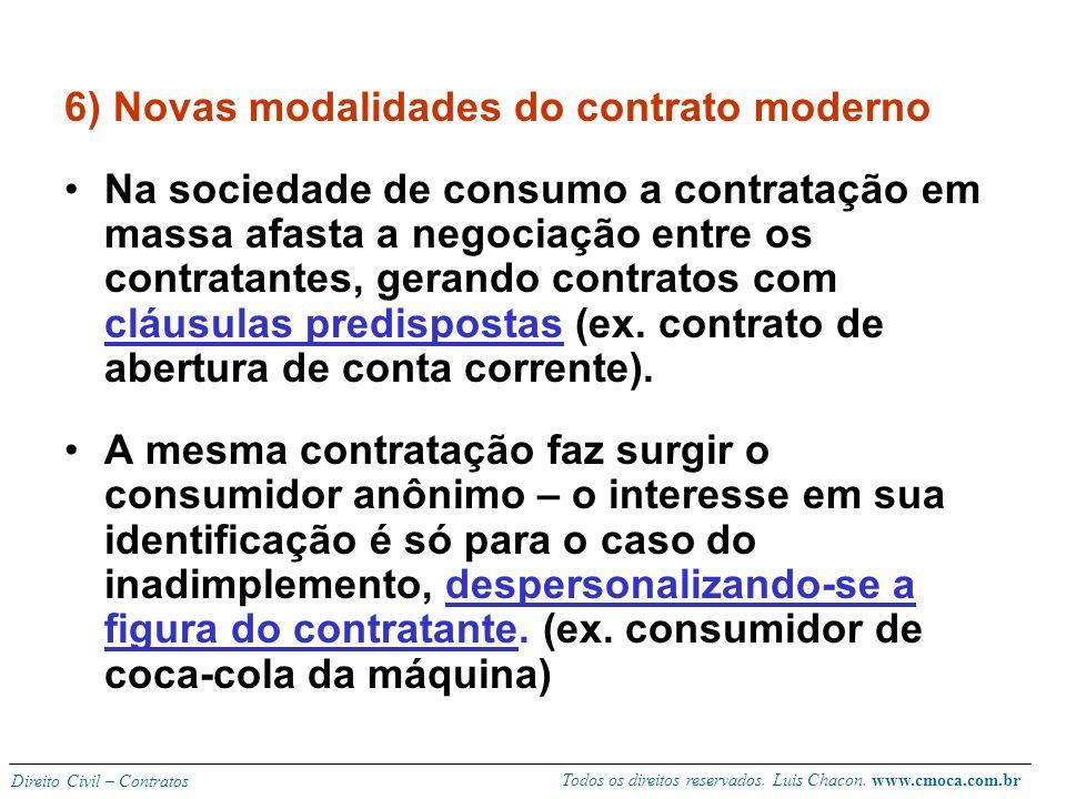 Todos os direitos reservados. Luis Chacon. www.cmoca.com.br Direito Civil – Contratos 5) Classificação dos contratos Unilateral (só um dos contratante