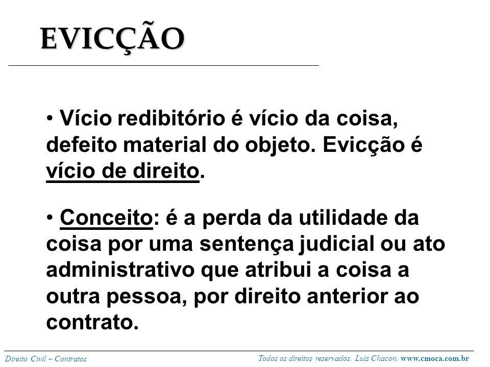 Todos os direitos reservados. Luis Chacon. www.cmoca.com.br Direito Civil – Contratos Contratos de Consumo A garantia do CC é insuficiente nos contrat