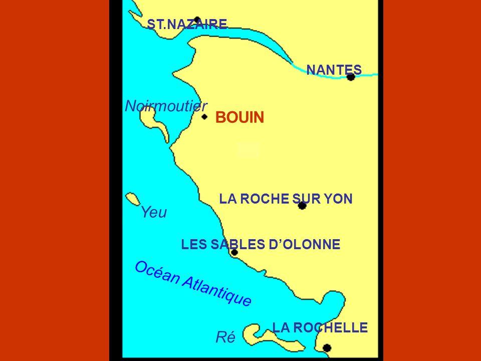 Océan Atlantique NOIRMOUTIER BOUIN BEAUVOIR SUR MER Passage do Gois Etier do Dain Port de lEpois Port dos Champs Port dos Brochets Port do Collet