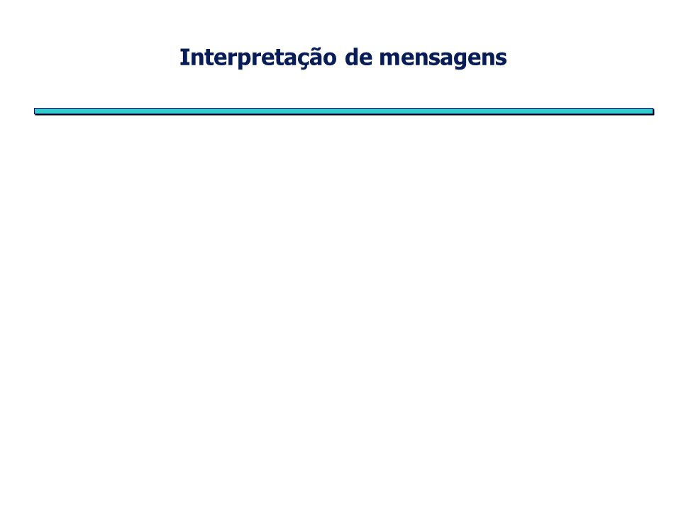 Interpretação de mensagens