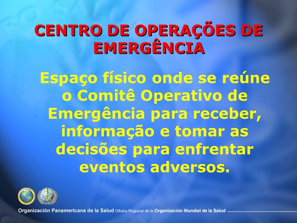 Os desastre se vivem em vários níveis: – Área de impacto – Salas de Emergência – Zonas de coordenação