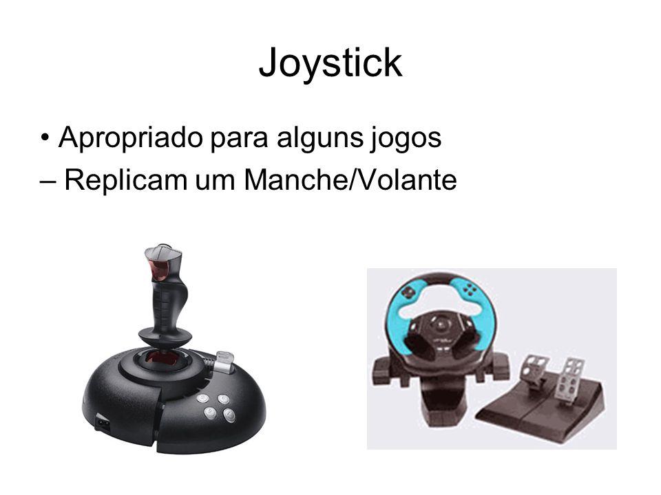 Joystick Apropriado para alguns jogos – Replicam um Manche/Volante