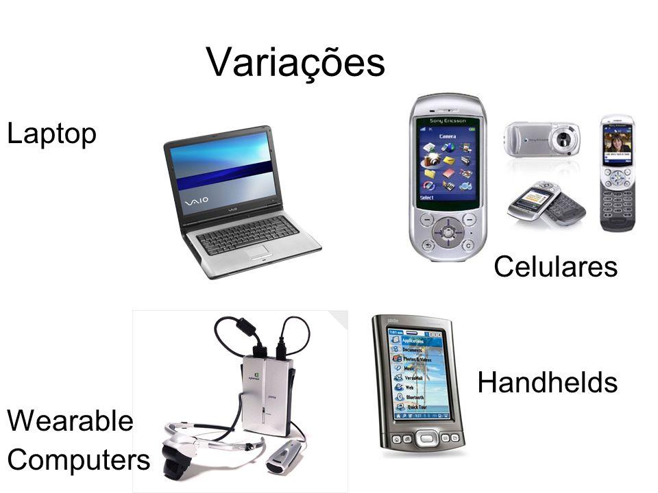 Variações Laptop Celulares Handhelds Wearable Computers