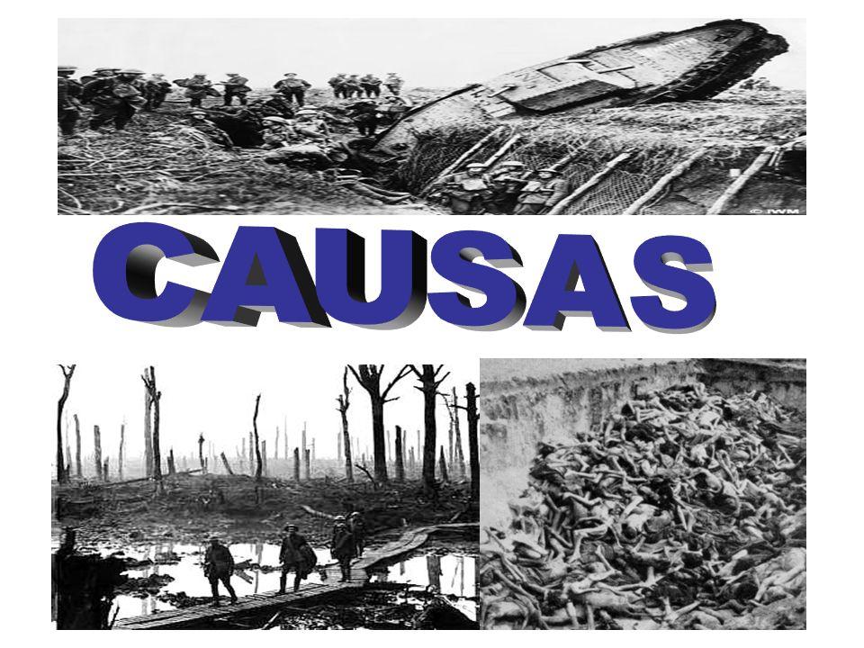4. Primeira Guerra Mundial (1914-1918) Objetivos: –Descrever as causas da guerra. –Explicar este conflito é considerado mundial. –Caracterizar os dife