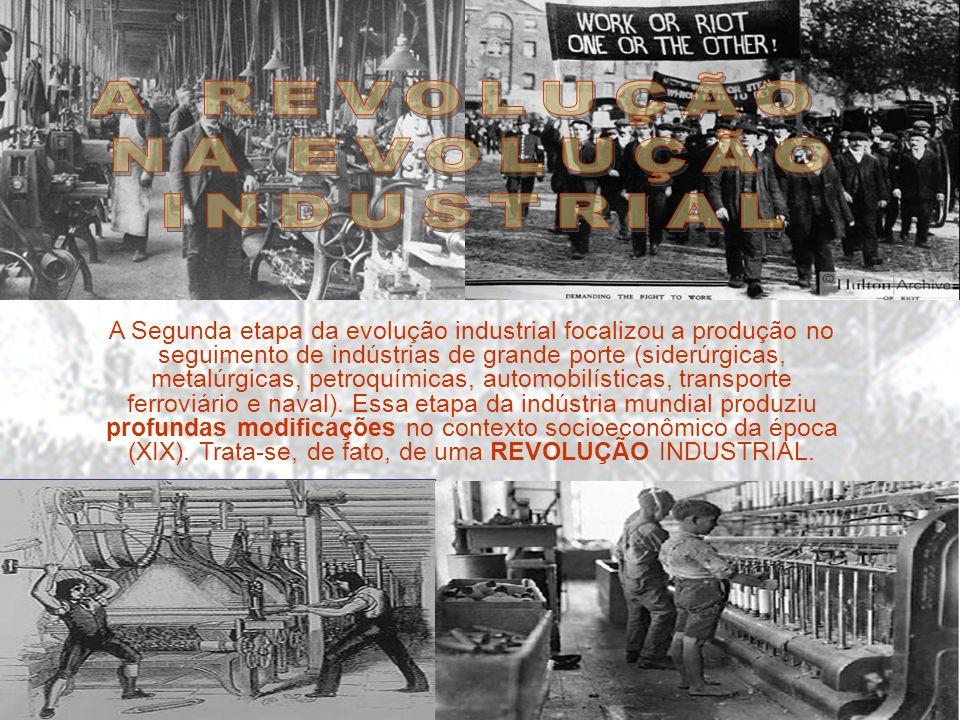 FASES 1760 a 1850: - A Revolução se restringe à Inglaterra. - Produção de bens de consumo (têxteis e energia a vapor). 1850 a 1900: -A Revolução espal