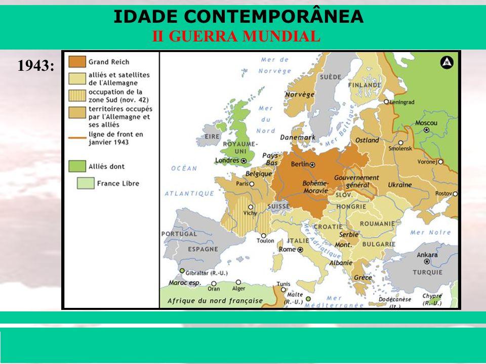 IDADE CONTEMPORÂNEA Prof. Iair iair@pop.com.br II GUERRA MUNDIAL 1943: