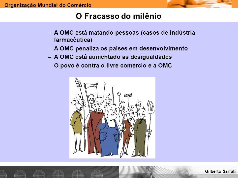 Organização Mundial do Comércio www.e-deliver.com.brGilberto Sarfati O Fracasso do milênio –A OMC está matando pessoas (casos de indústria farmacêutic