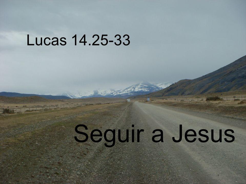 Lucas 14.25-33 Seguir a Jesus
