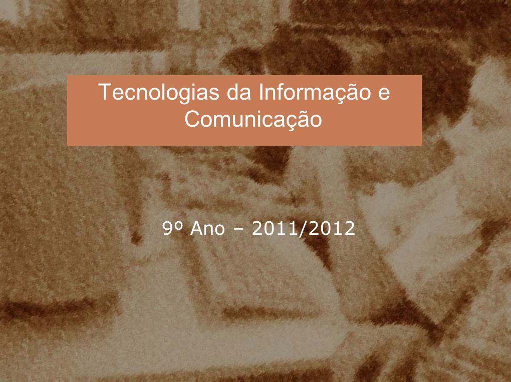 UNIDADE 1: Introdução às Tecnologias da Informação e Comunicação Áreas de aplicação das TIC Introdução à estrutura e funcionamento de um sistema informático Decisões fundamentais na aquisição e/ou remodelação de material informático Programas informáticos Conceitos básicos Informática, Tecnologias da Informação, Tecnologias da Informação e Comunicação Informação Computador – Informática e Burótica Comunicação – Telecomunicações e Telemática Controlo e Automação – Robótica e CAD-CAM Unidade Central de Processamento e Memórias Motherboard Dispositivos de Entrada e Saída de Dados Tecnologias da Informação e Comunicação