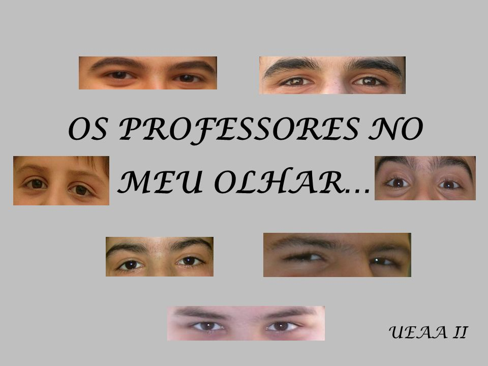 OS PROFESSORES NO MEU OLHAR… UEAA II