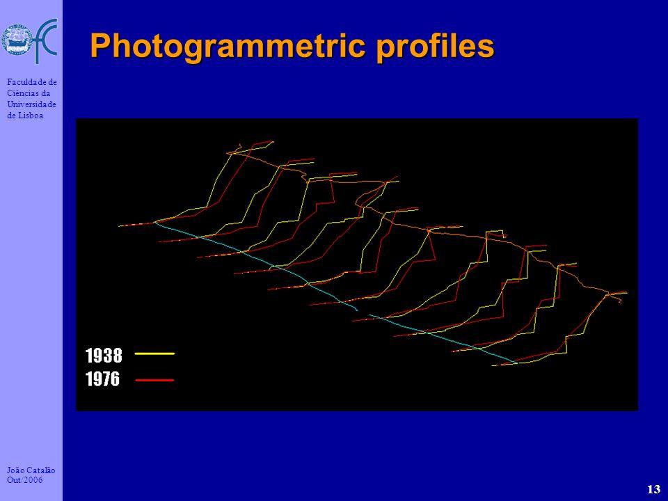 João Catalão Out/2006 Faculdade de Ciências da Universidade de Lisboa 13 Photogrammetric profiles