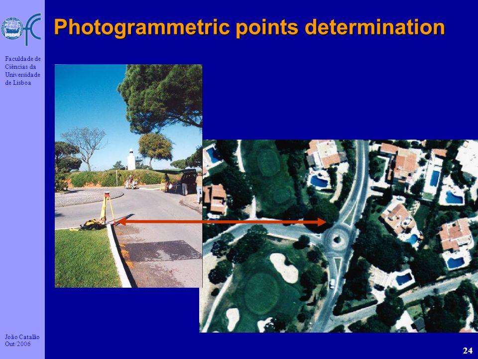 João Catalão Out/2006 Faculdade de Ciências da Universidade de Lisboa 24 Photogrammetric points determination
