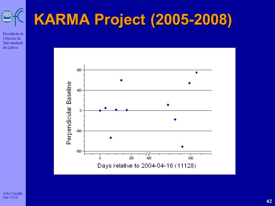 João Catalão Out/2006 Faculdade de Ciências da Universidade de Lisboa 42 KARMA Project (2005-2008)