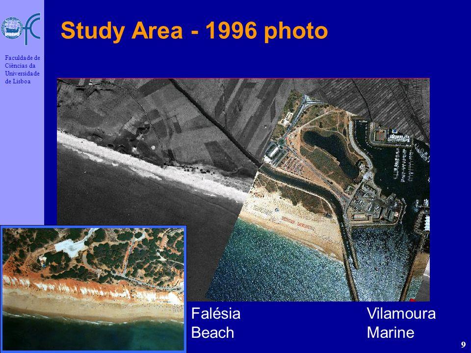 João Catalão Out/2006 Faculdade de Ciências da Universidade de Lisboa 9 Study Area - 1996 photo Vilamoura Marine Falésia Beach