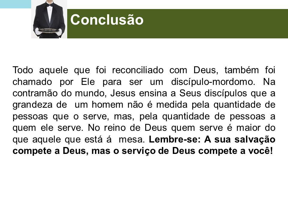 Todo aquele que foi reconciliado com Deus, também foi chamado por Ele para ser um discípulo-mordomo. Na contramão do mundo, Jesus ensina a Seus discíp