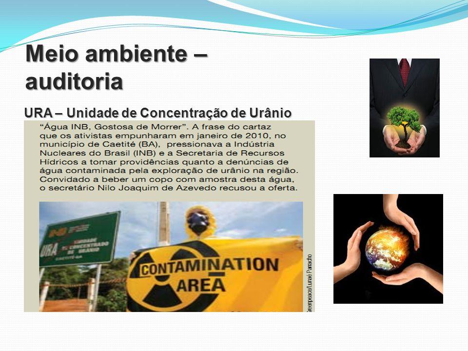 Meio ambiente – auditoria URA – Unidade de Concentração de Urânio