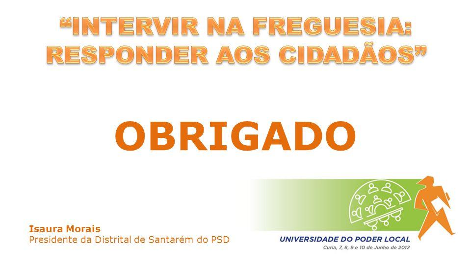 OBRIGADO Isaura Morais Presidente da Distrital de Santarém do PSD