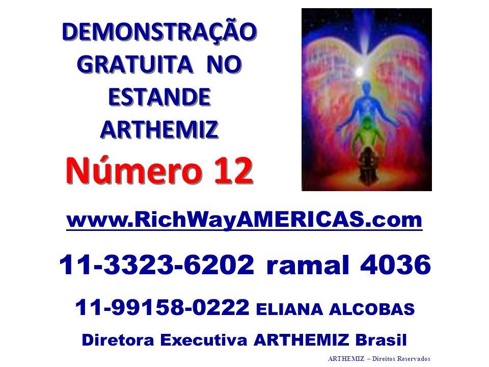 DEMONSTRAÇÃO GRATUITA NO ESTANDE ARTHEMIZ Número 12 www.RichWayAMERICAS.com 11-3323-6202 ramal 4036 11-99158-0222 ELIANA ALCOBAS Diretora Executiva AR