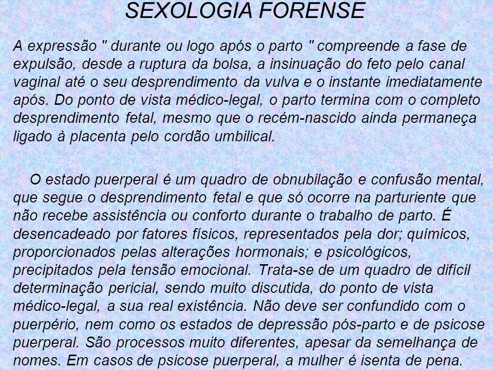 SEXOLOGIA FORENSE A expressão
