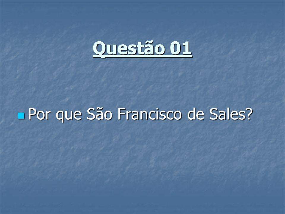 Questão 01 Por que São Francisco de Sales? Por que São Francisco de Sales?