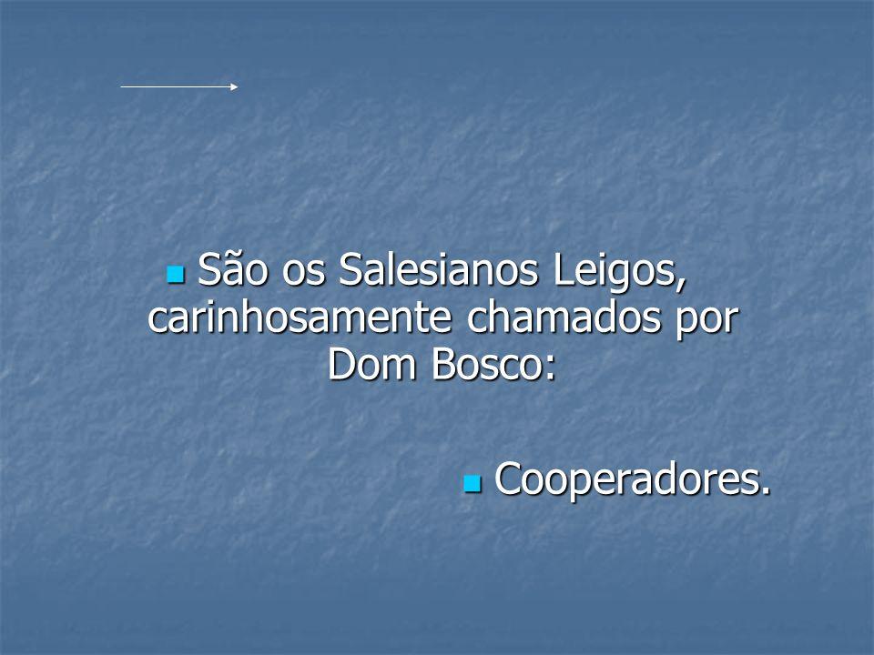 São os Salesianos Leigos, carinhosamente chamados por Dom Bosco: São os Salesianos Leigos, carinhosamente chamados por Dom Bosco: Cooperadores. Cooper