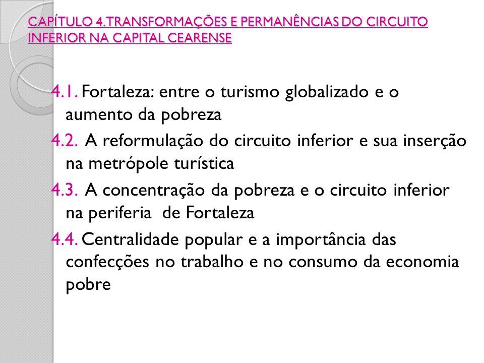 CAPÍTULO 4. TRANSFORMAÇÕES E PERMANÊNCIAS DO CIRCUITO INFERIOR NA CAPITAL CEARENSE 4.1. Fortaleza: entre o turismo globalizado e o aumento da pobreza