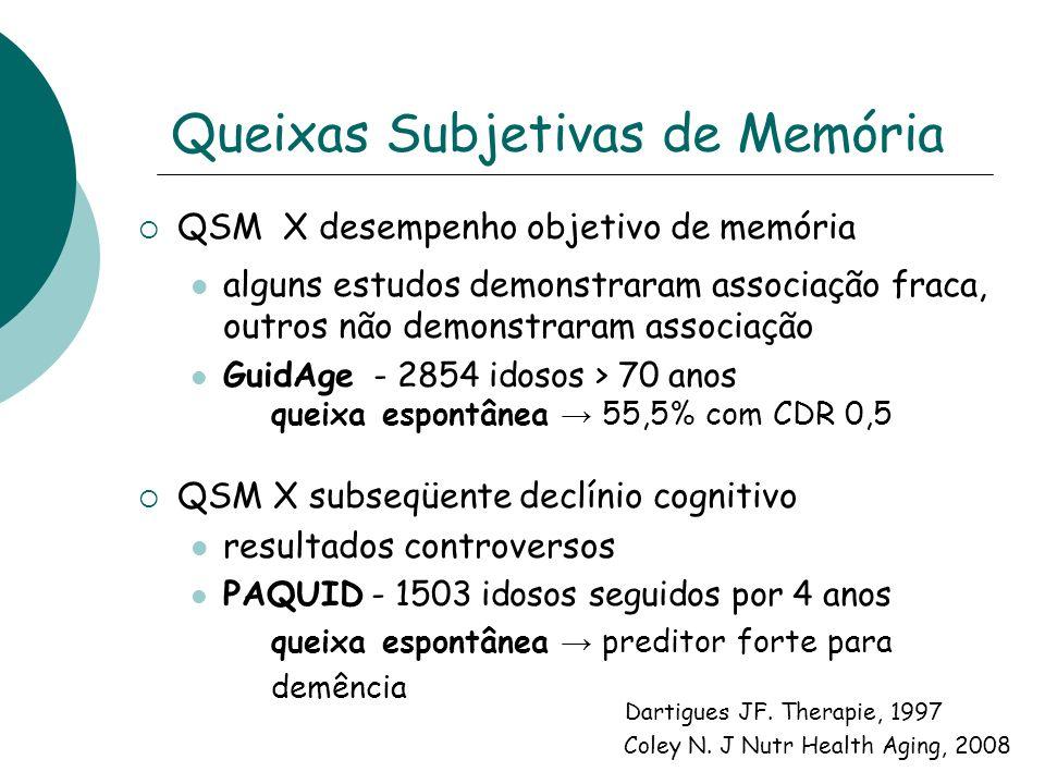 Comprometimento Cognitivo Leve Transição entre cognição normal e demência Demência pré-clínica .