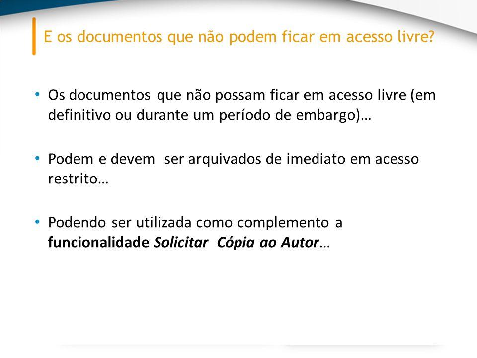 1.O utilizador que aceda ao metadados de um documento em Acesso Restrito insere o seu email e envia um pedido para o autor do documento.