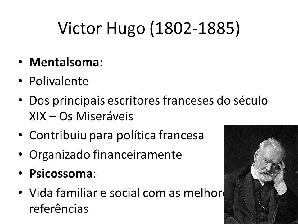 Victor Hugo (1802-1885) Mentalsoma: Polivalente Dos principais escritores franceses do século XIX – Os Miseráveis Contribuiu para política francesa Or